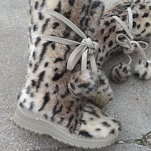 Victoria's Secret cheetah print faux fur boots
